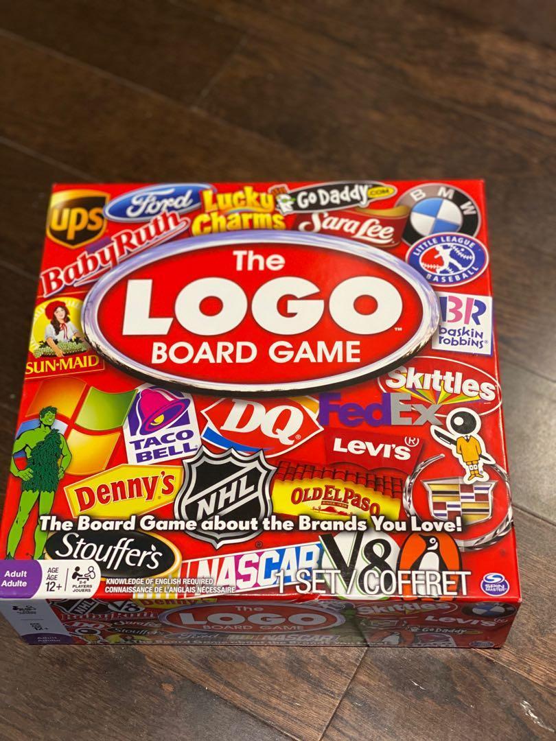 Logo board game gathering party fun time