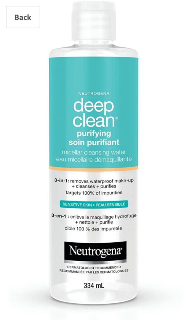 Neutrogena Micellar Water, Deep Clean Purifying Cleanser