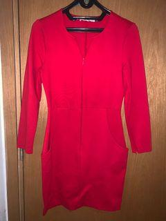 Red bodycon dress hongkong
