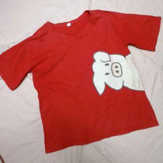 Red oversized Shirt