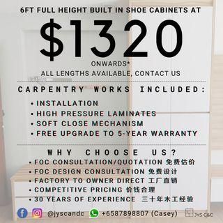 Shoe Cabinet Renovation Direct Factory Carpentry to Owner