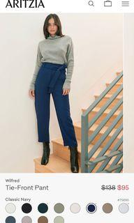 Wilfred Tie-Front Pant - size 4