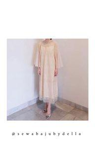 129. Kina atelier nude dress for rent
