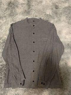 無印良品-男-法蘭絨無領襯衫