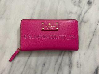 AUTHENTIC KATE SPADE Pink Long Wallet purse coin hand bag Tory