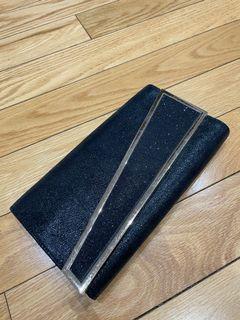 Black Envelope Clutch Purse with Crossbody
