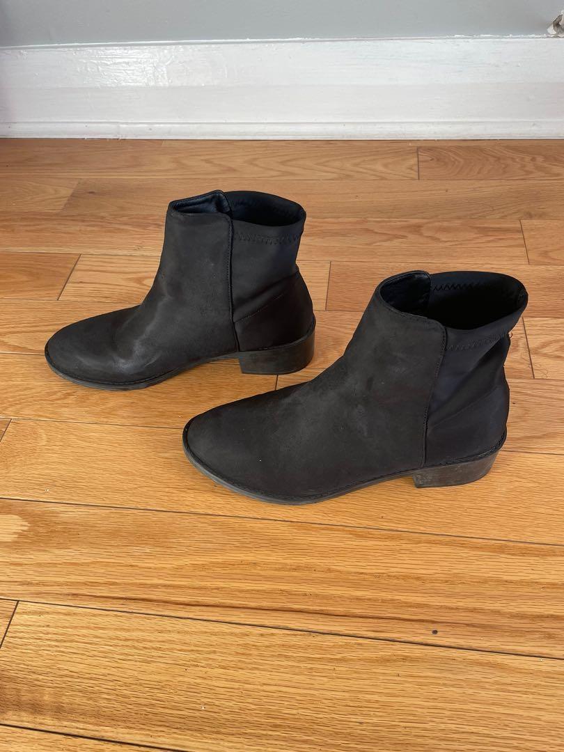 Black Sock Heeled Boots Size 41