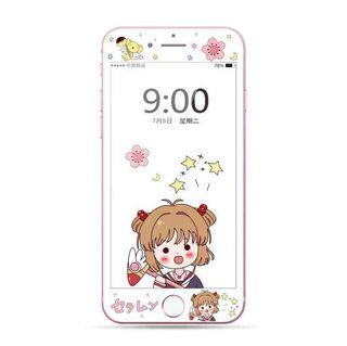 BNIP IPhone 8 Plus/ IPhone 7 Plus Sakura Cardcaptor Tempered Glass Screen Protector