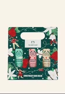BNIP The Body Shop Christmassy Hand Cream Trio
