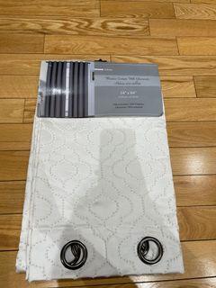 Brand New White Curtain (one panel)