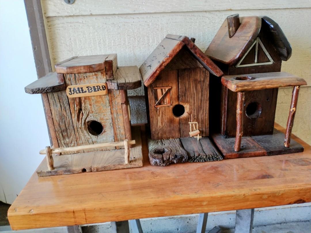 Custom wood bird houses