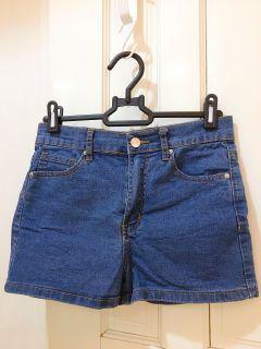 Forever 21顯腿長中藍牛仔短褲