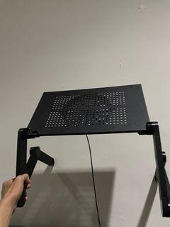 Meja Laptop Portable Aluminium Lipa with Cooler Fan