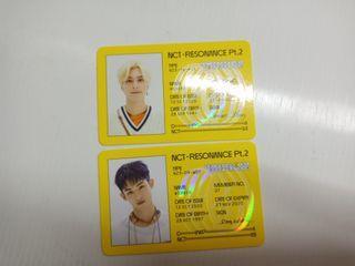 NCT 2020 ID卡 winwin hendery