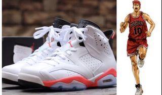 Nike Air Jordan 6 AJ6 六代 白色 紅色 櫻木花道