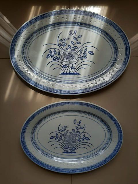 Piring oval keramik