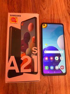 Samsung a21 s full set mulus 99%
