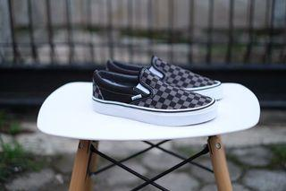 Vans Classic Slip On Pewter Checkerboard