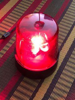 Vintage radio shack rotating red light in working condition
