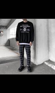黑白格子9分褲