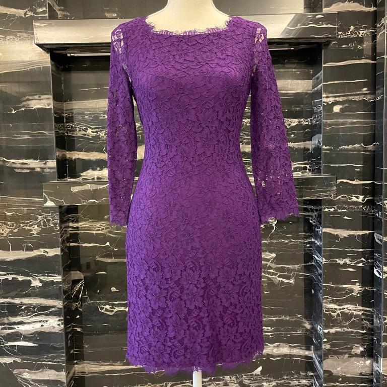 [美國設計師品牌洋裝特惠出清] DVF 經典Zarita 蕾絲洋裝