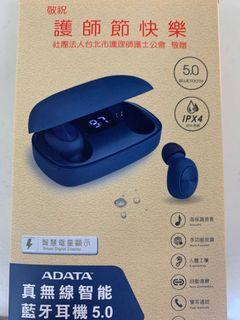 ADATA真無線藍芽耳機-粉紅色