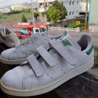 Adidas板鞋 Stan Smith 白綠26.5cm(27可穿)US9