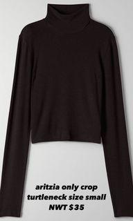 ARITZIA only cropped turtleneck