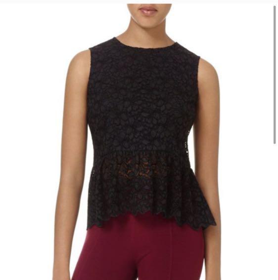 Aritzia Talula Peplum Lace blouse