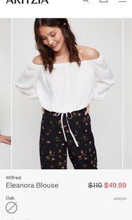 Aritzia Wilfred Eleanora blouse size xs