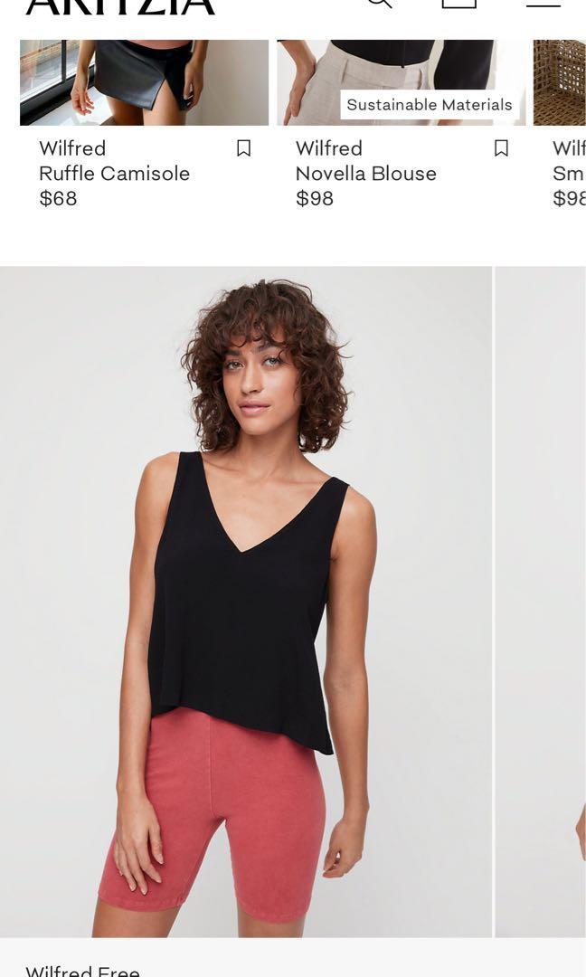 Aritzia Wilfred Free Kempner blouse size xs