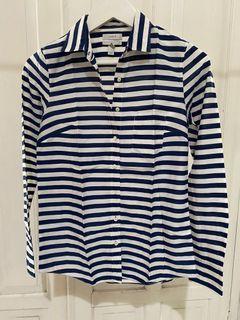 Blue white strip shirt
