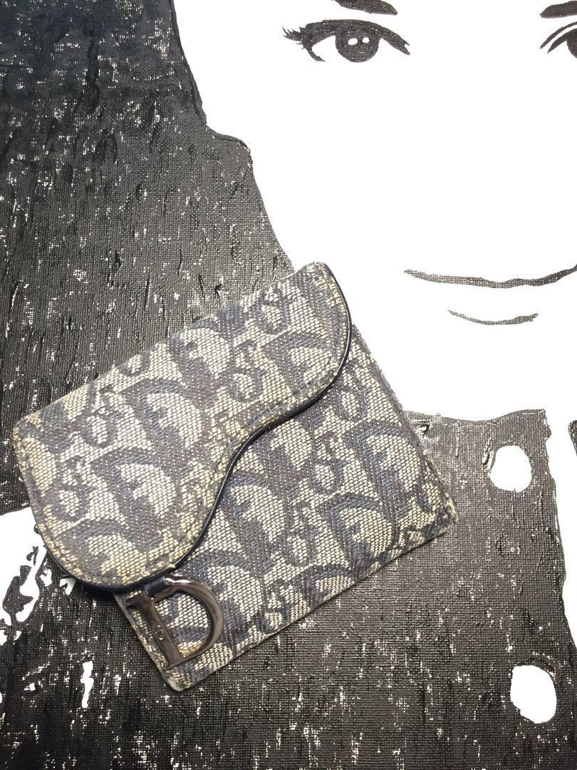 Christian Dior 經典藍色老花短夾