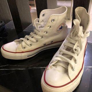 converse 基本款 高筒帆布鞋 白色