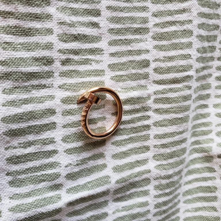 Dainty adjustable gold plated ring