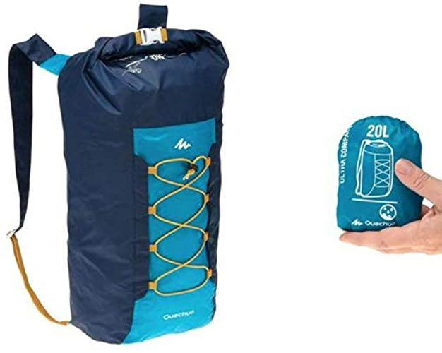 Decathlon 迪卡儂 極輕小防潑水登山包 登頂包 雙肩後背包 20-30L 藏青色