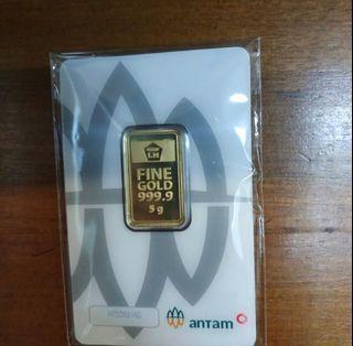 Emas antam 5 gram kemasan tahun 2020