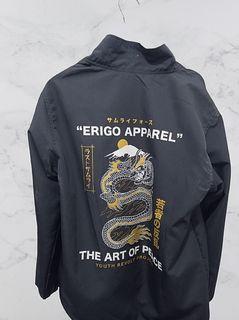 Erigo Coach Jacket Art Of Peace Dark Grey