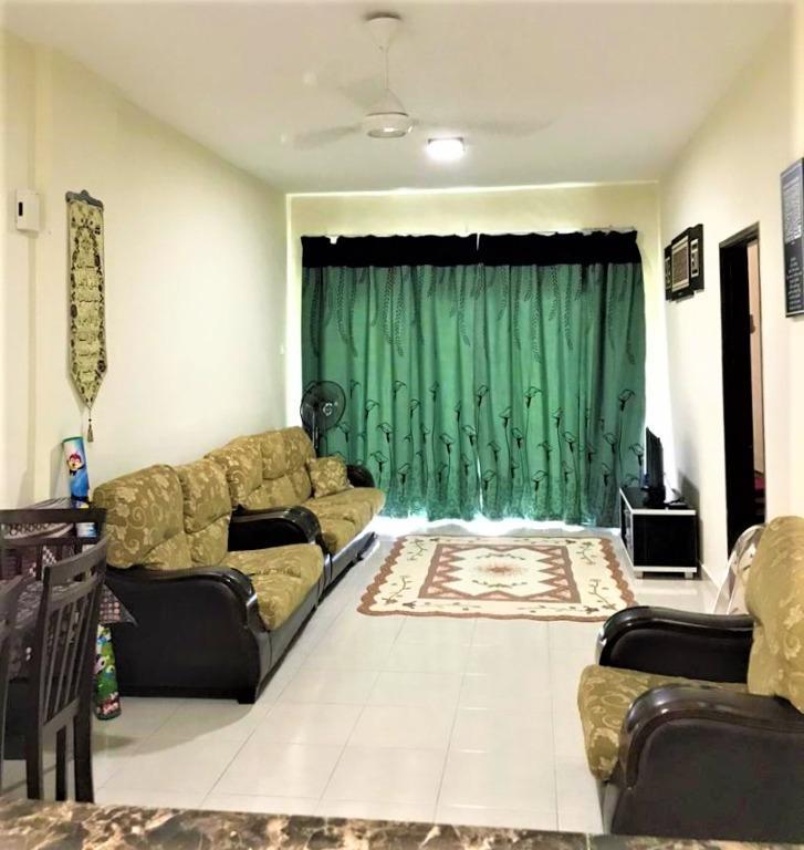 Fully furnished Apt Residensi Warnasari 2 Puncak Alam