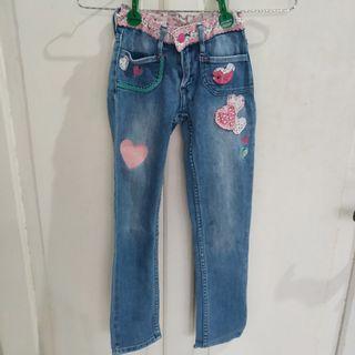 JUAL CEPAT Jeans Celana Panjang Denim Hati Hearts Anak Perempuan