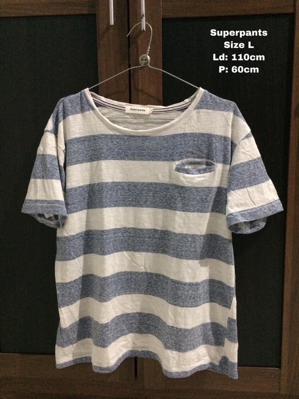 Kaos Stripe merk superpants Import #salee