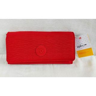 🆓🚚 Kipling Teddi Long Wallet in Cherry Red 🆓 Delivery within MM