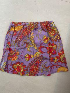 Mini skirt y2k floral Hawaiian summer hibiscus print skirt rok
