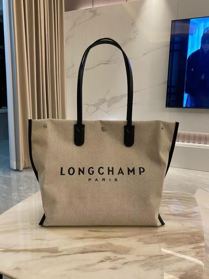 ON HAND: Longchamp Roseau Canvas Tote Bag Large in Ecru, Women's ...
