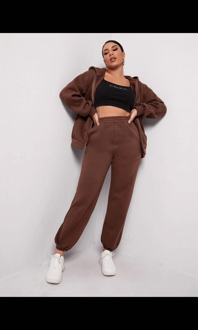 oversized brown sweatpants size S
