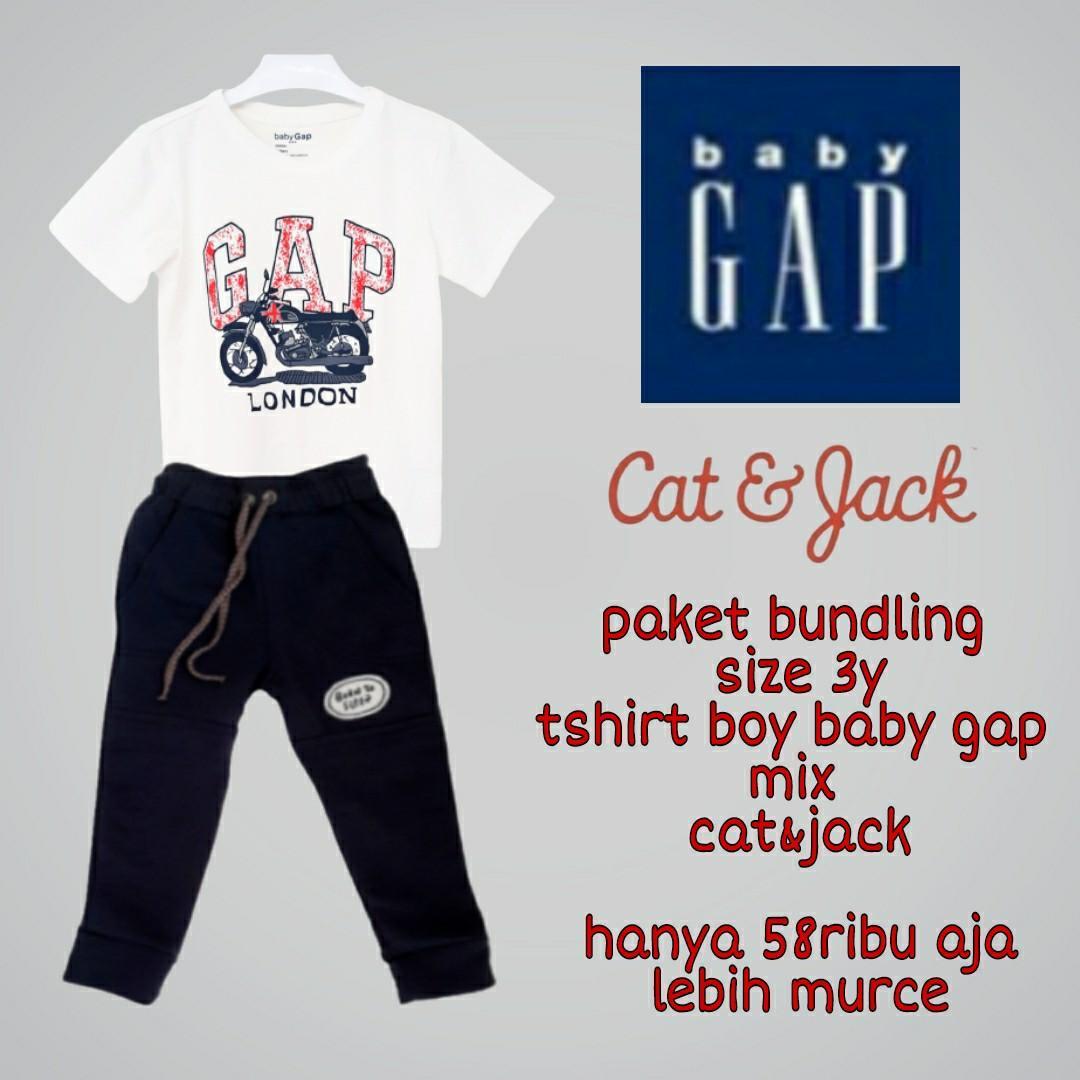 Paket bundling tshirt boy gap mix jogger cat&jack