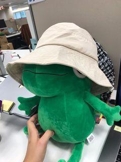 Queen shop 壓線設計立體 漁夫帽(杏)