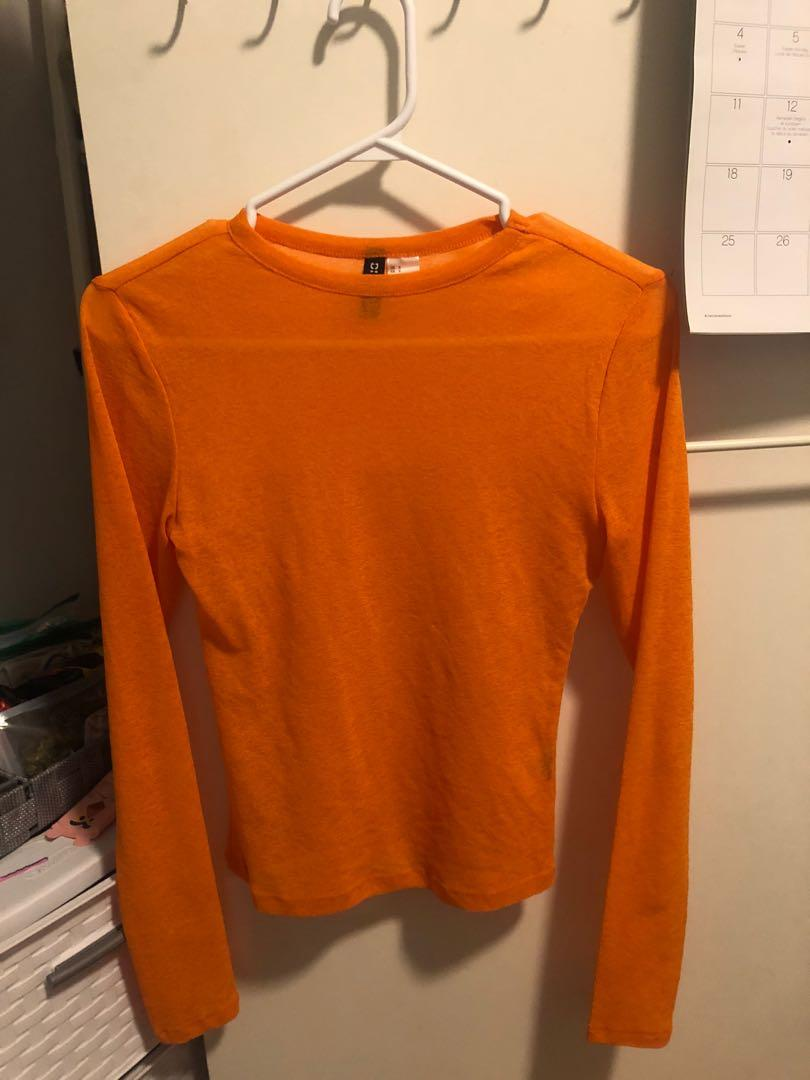 Sheer orange top