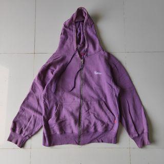 Supreme East Zip Hoodie Purple |  Jaket Sweater