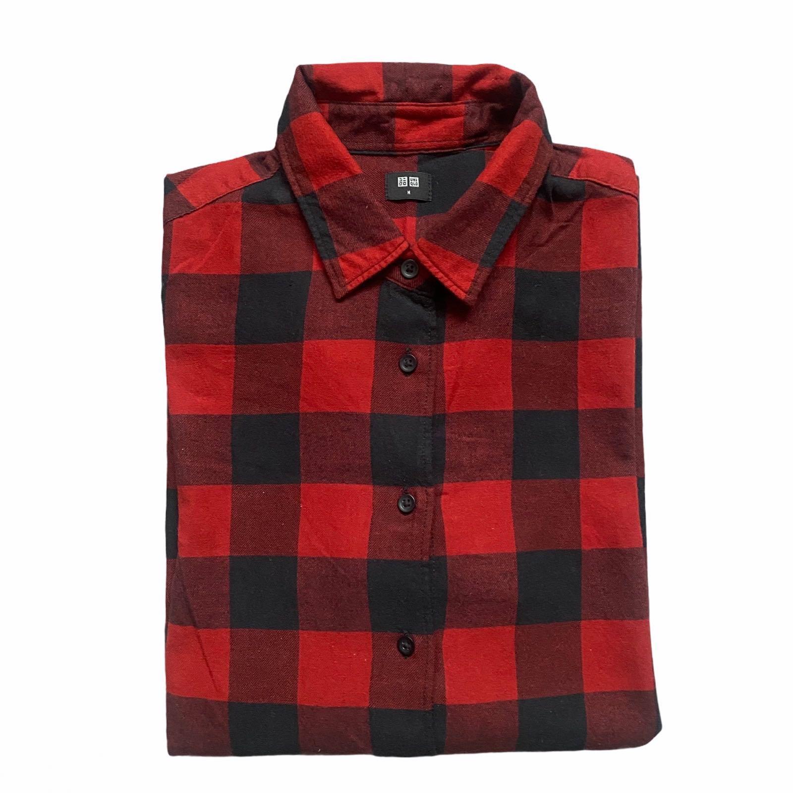 Uniqlo Red Checkered Flannel / Plaid